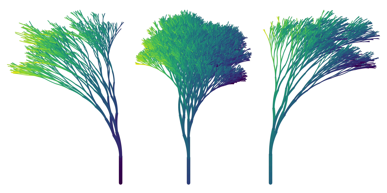 Generative aRt using the flametree package by Danielle Navarro