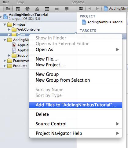 Adding Nimbus files