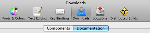 Open the documenation tab