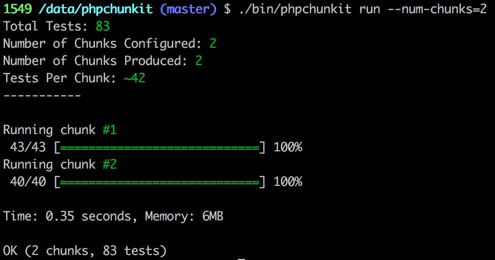 PHPChunkit Screenshot