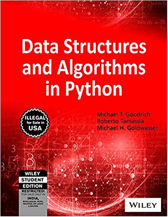 Data Structures and Algorithms in Python (paperback - much cheaper)