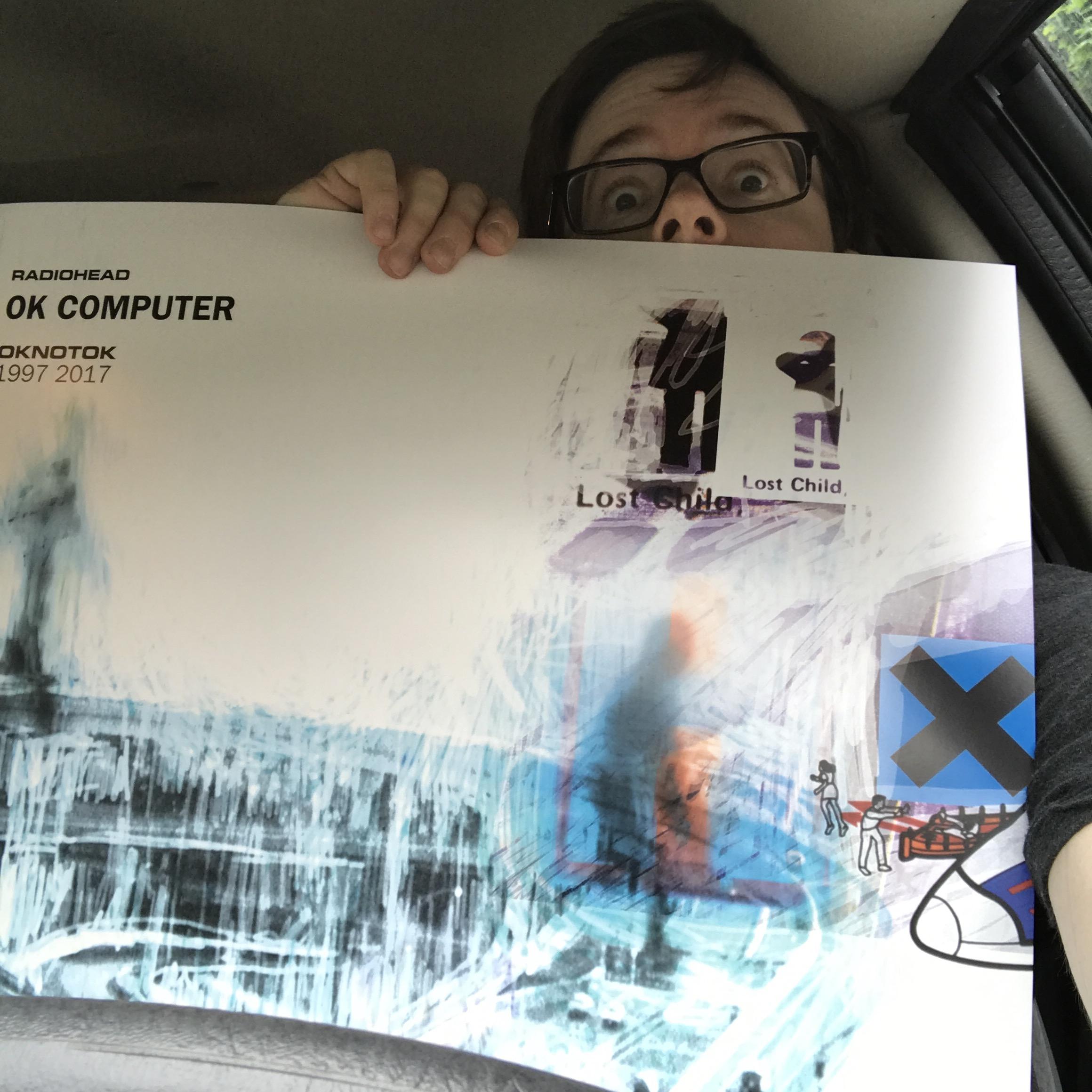 me and a giant OKNOTOK19972017 poster