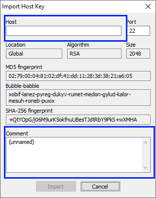 bitvise-hostkeymgr import key