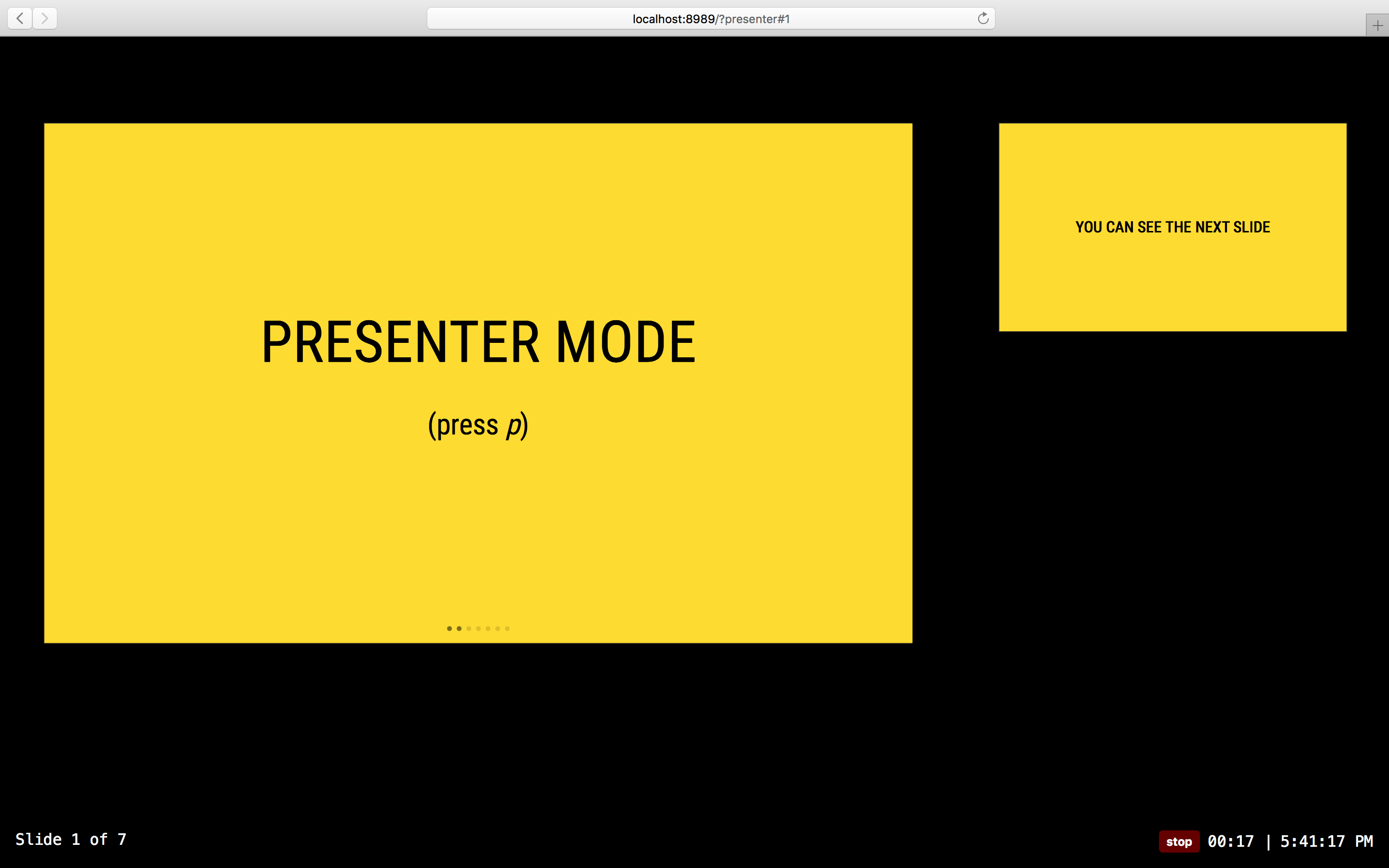 presenter mode screenshot