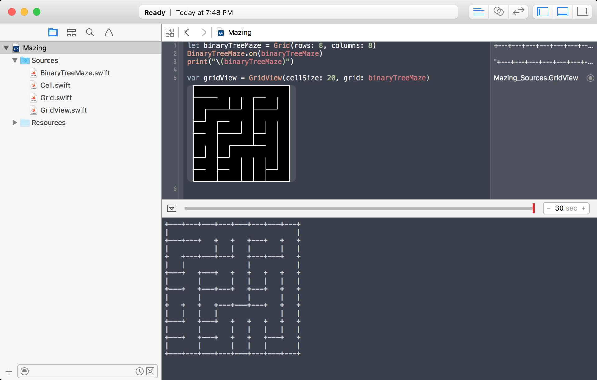 GitHub - jyunderwood/Mazing-Swift: Mazes for Programmers in Swift