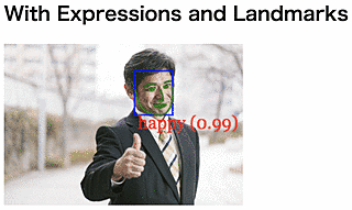 Detected Face With Expressions and Landmarks