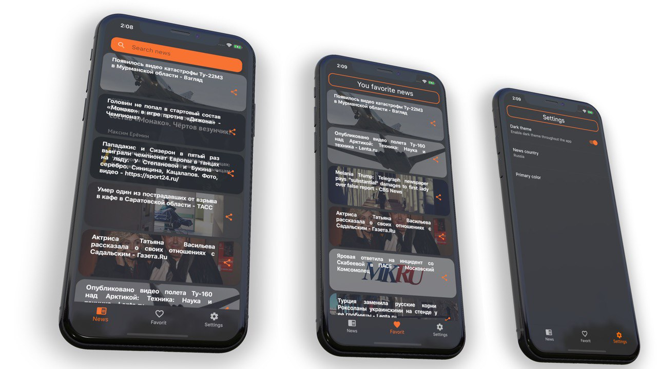 News app in Flutter with BLOC pattern