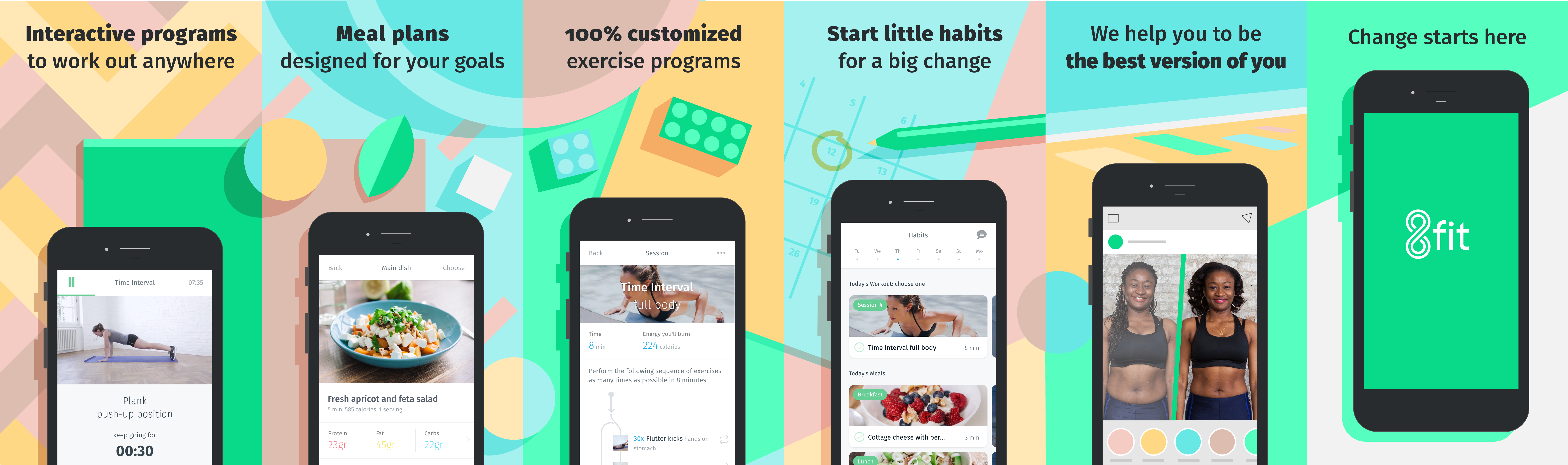 Marketing Design for the 8fit app