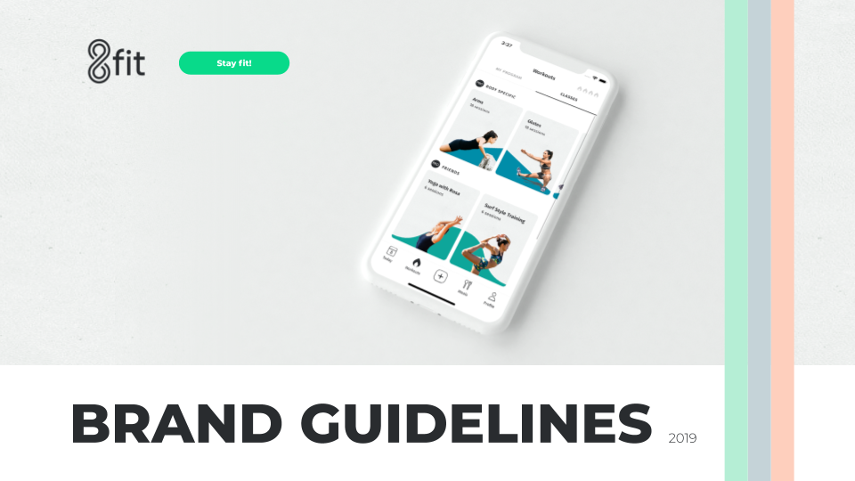 Brand Identity for the 8fit app