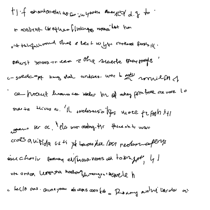 Generative hand writing