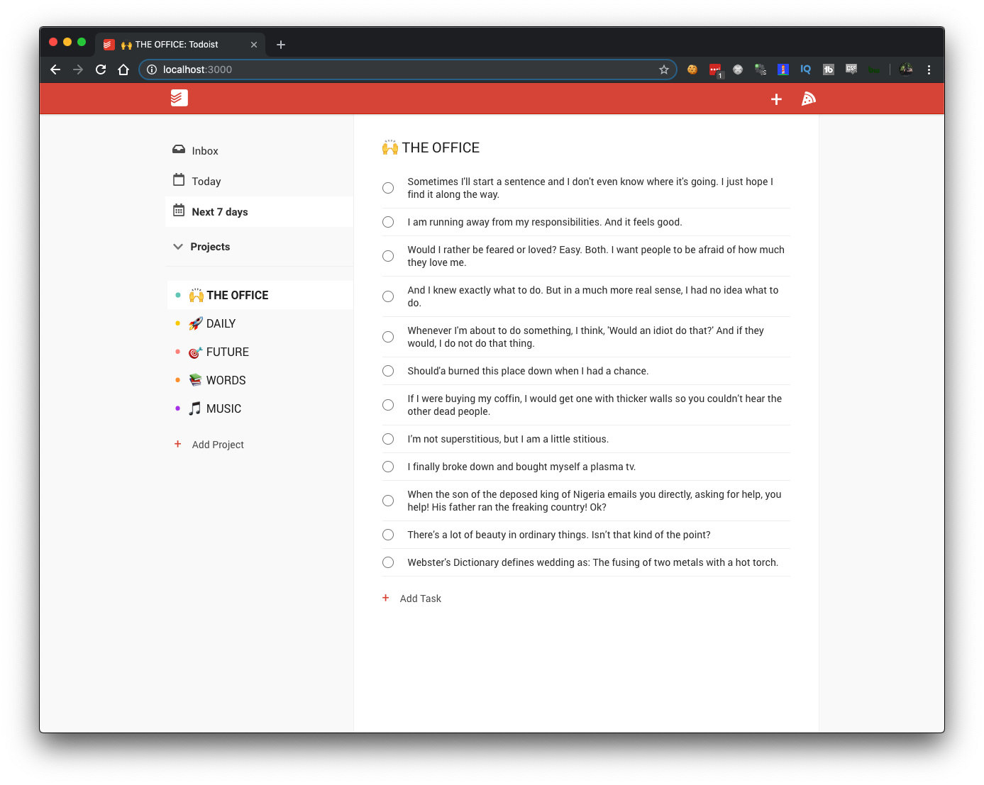 Building Todoist from Scratch Using React (Custom Hooks, Context), Firebase & React Testing Library (http://bit.ly/CognitiveSurge)