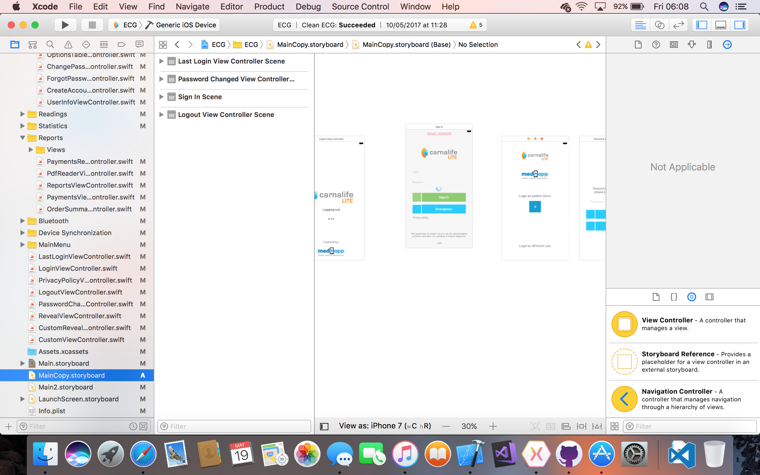 Simple Storyboard in Xcode
