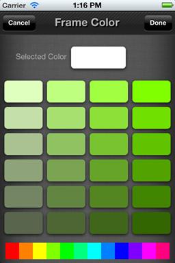 Hue Grid selector