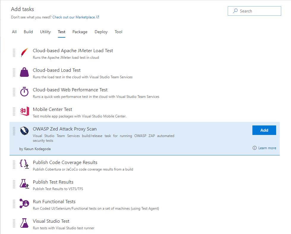 OWASP Zed Attack Proxy Scan - Visual Studio Marketplace