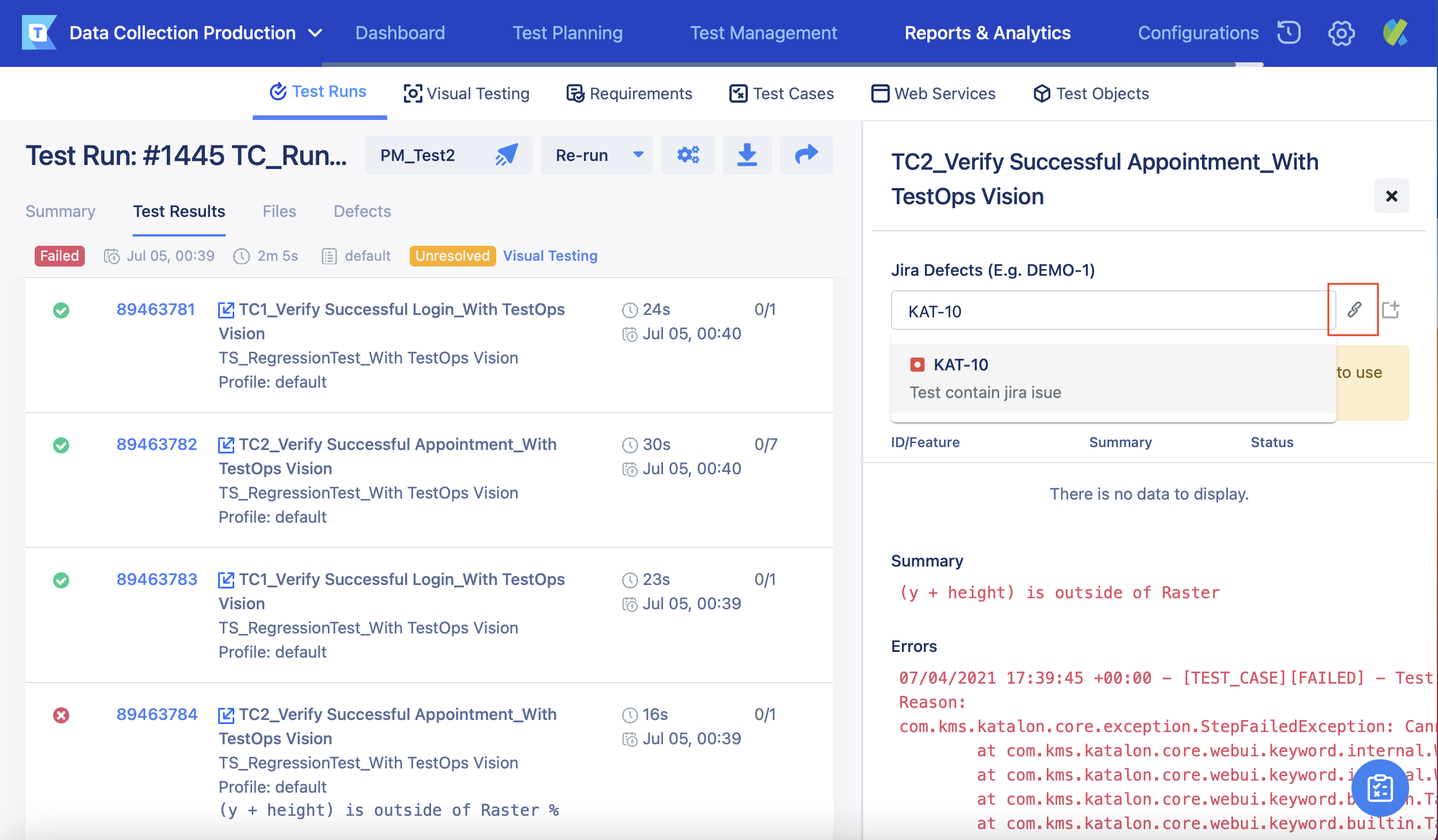 enter jira issue with link icon highlight