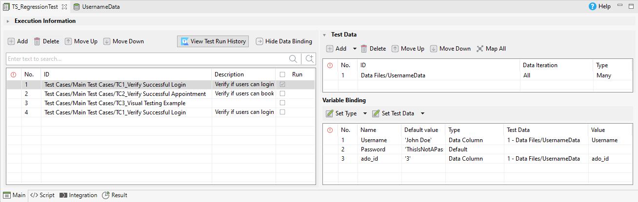 conduct data binding