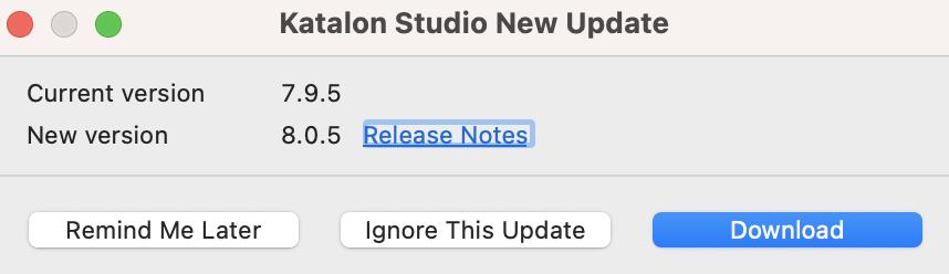 new update dialog