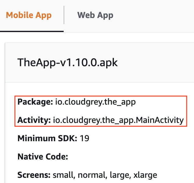 Android main activity
