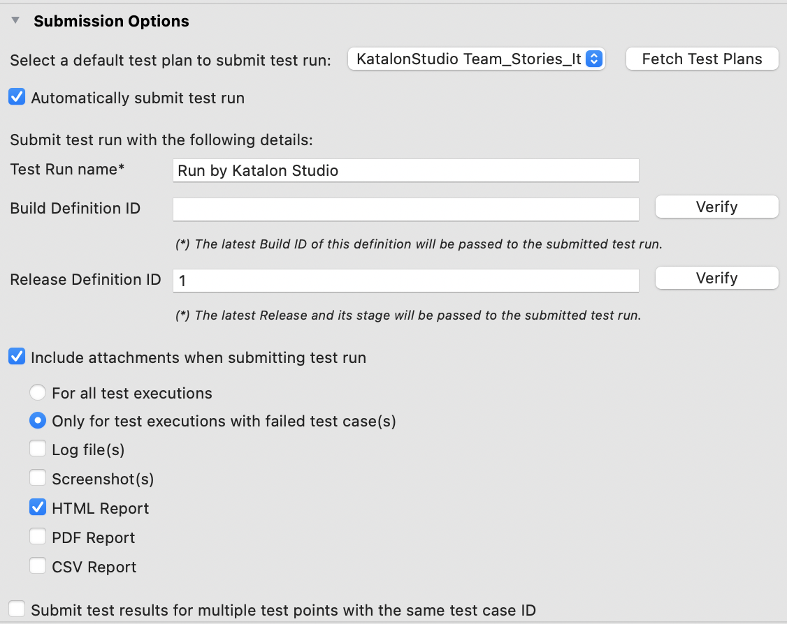 Submission Options 8.1.0