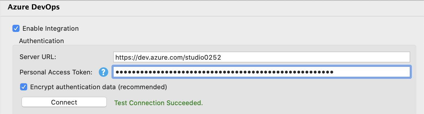 Azure DevOps dialog