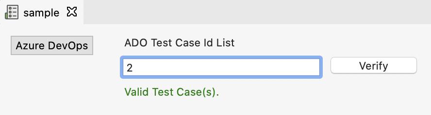verify ADO test case
