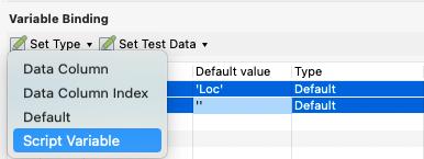 Script Variable Option