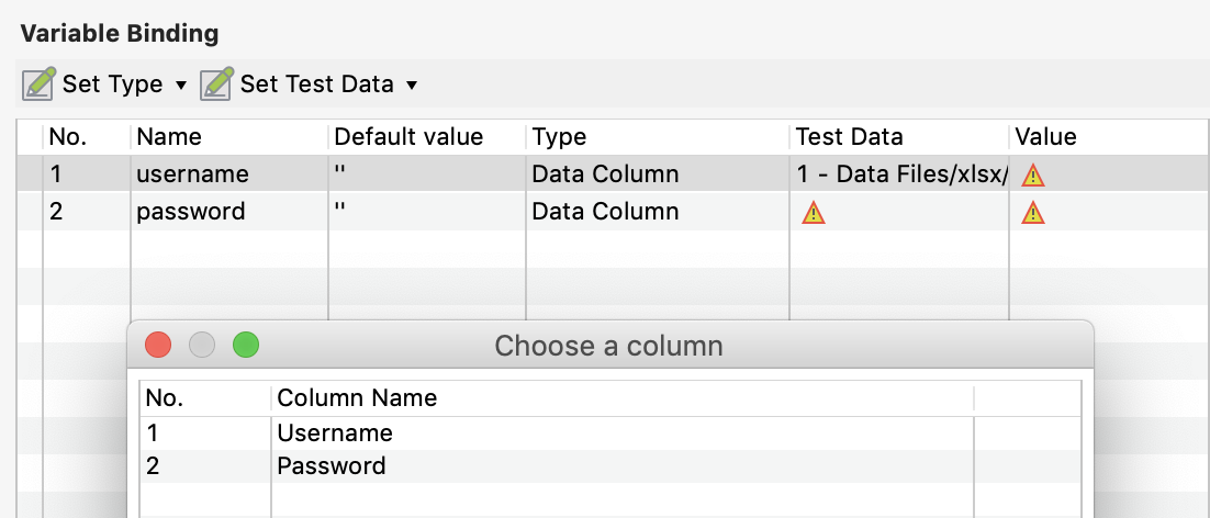 Choose Value for Data Type