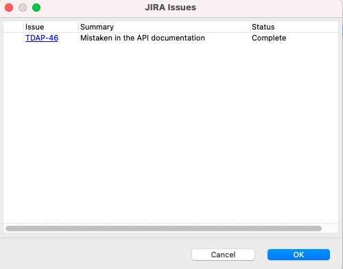 Link the Jira issue