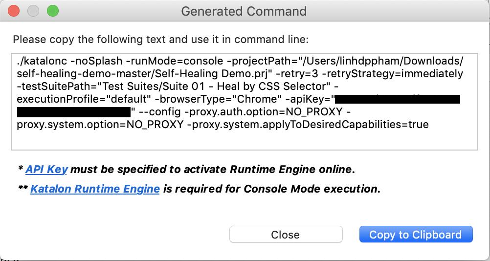 generate command