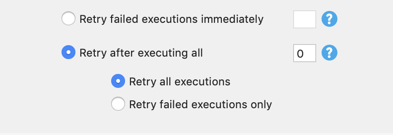 retry after executing all