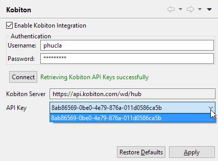 enable kobiton integration before 7.8
