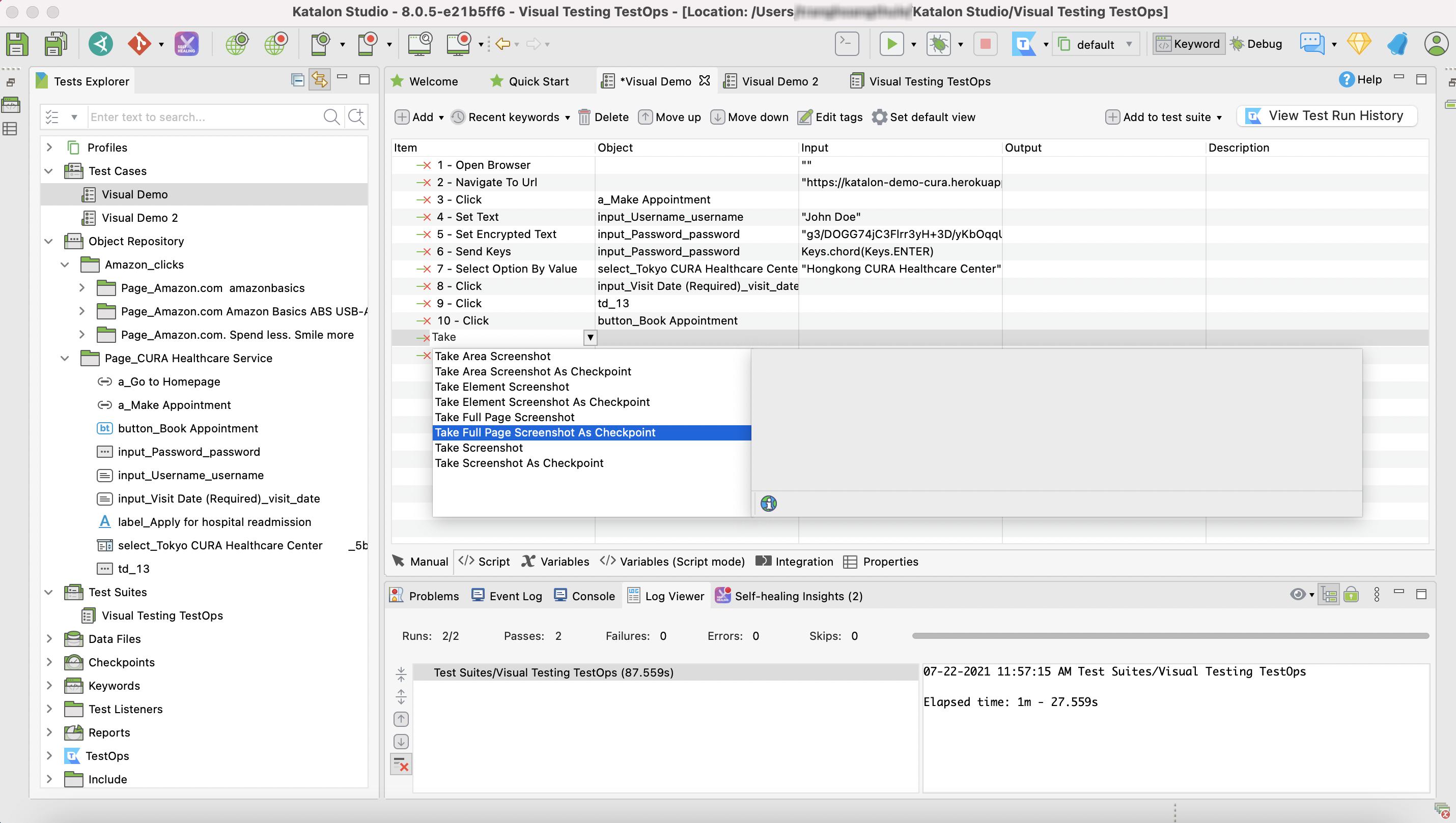 screenshot keywords list