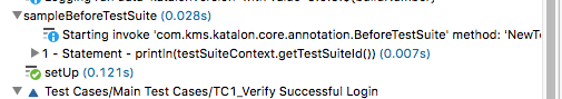 sample before test suite