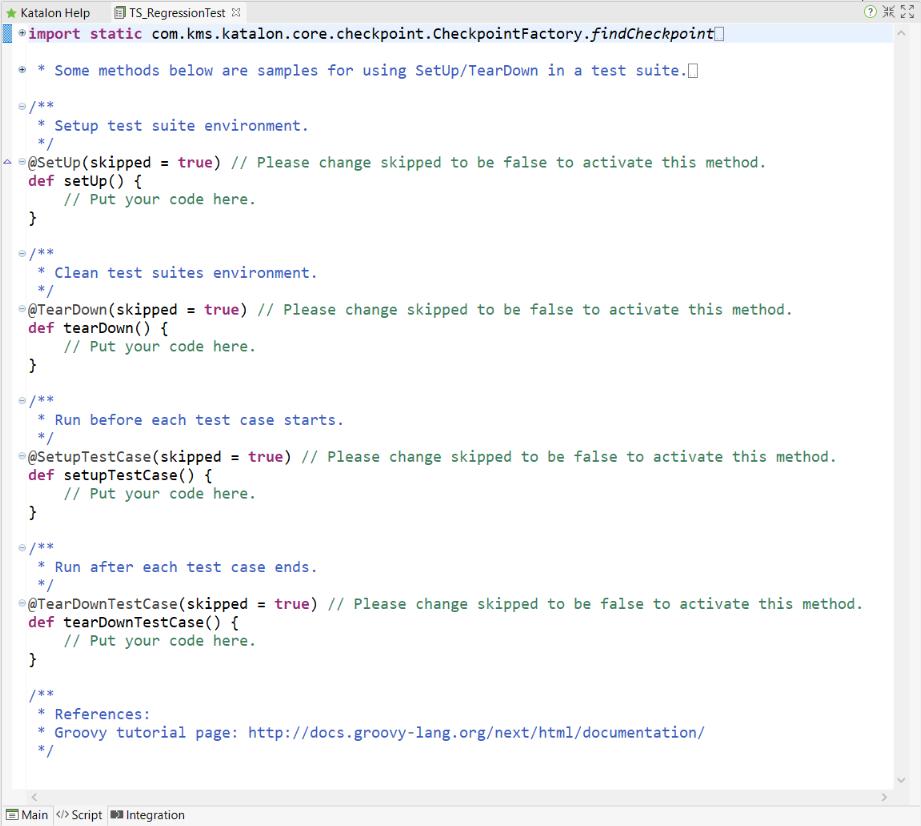 script tab interface
