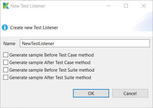 Test Listeners options