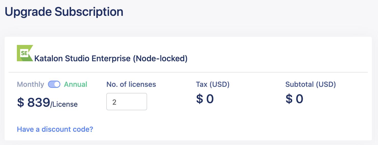 upgrade licenses