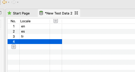 New Data file