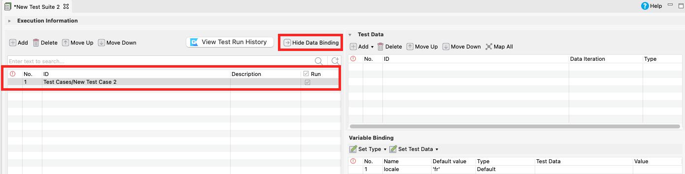 Show Data Binding section