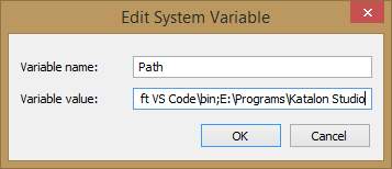 Katalon Edit System Variables