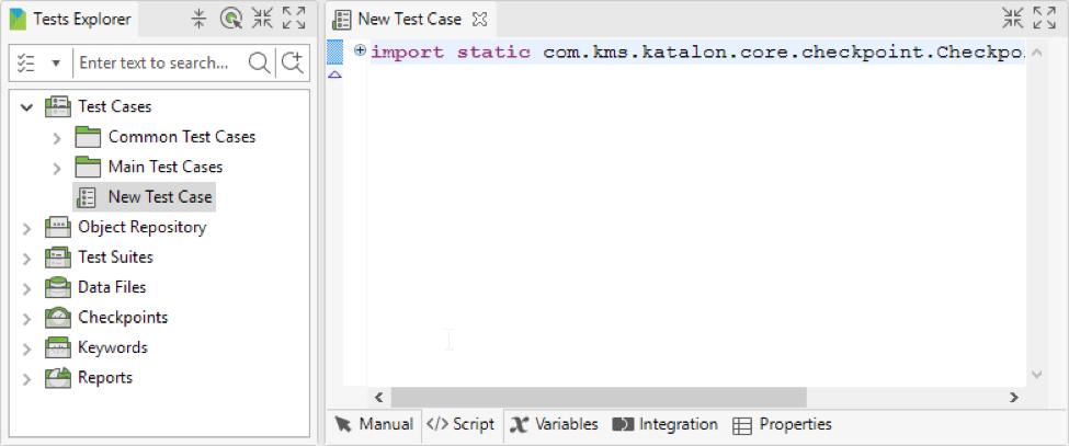 Script mode Katalon Studio