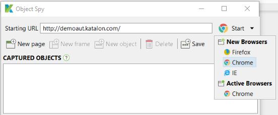 application URL in Object Spy
