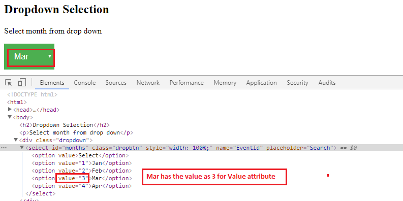 SelectByValue Example