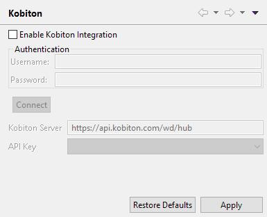 Enable Kobiton Integration