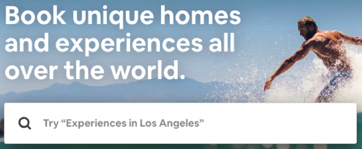 Search-bar-of-Airbnb's