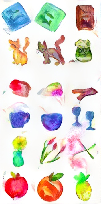 generated watercolor texture applied to my sprites