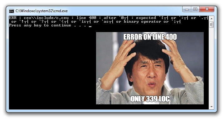 unhelpful error messages