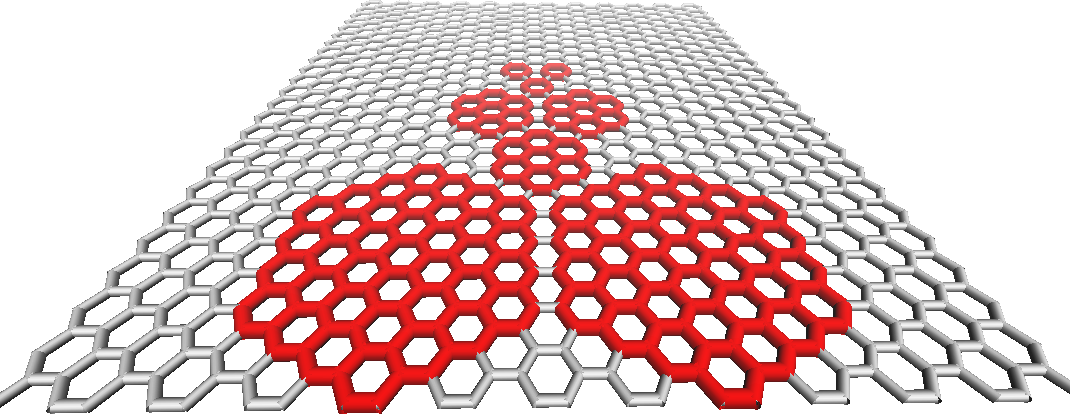 Coarse grained simulation of Graphene