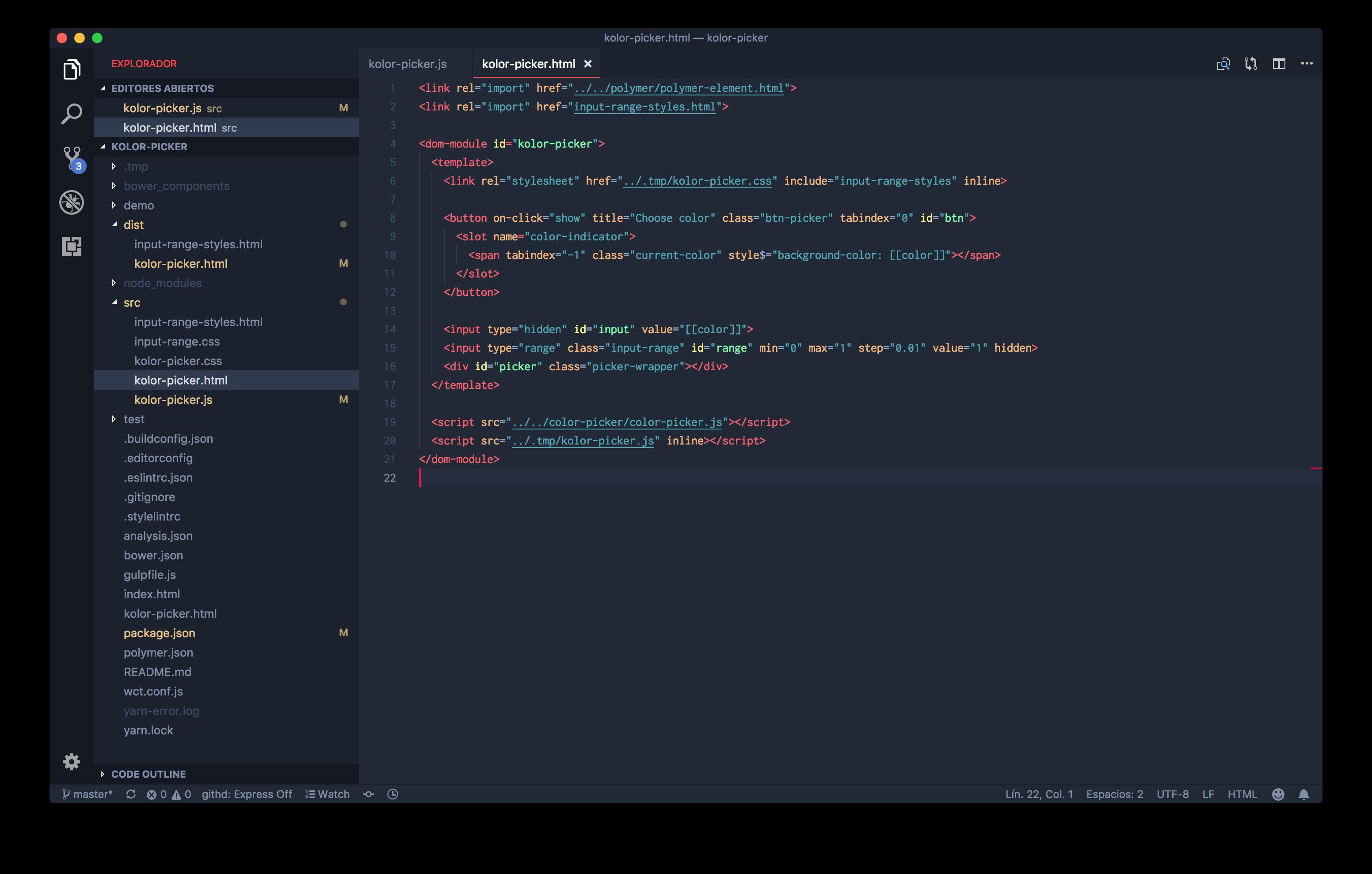 HTML syntax highlight
