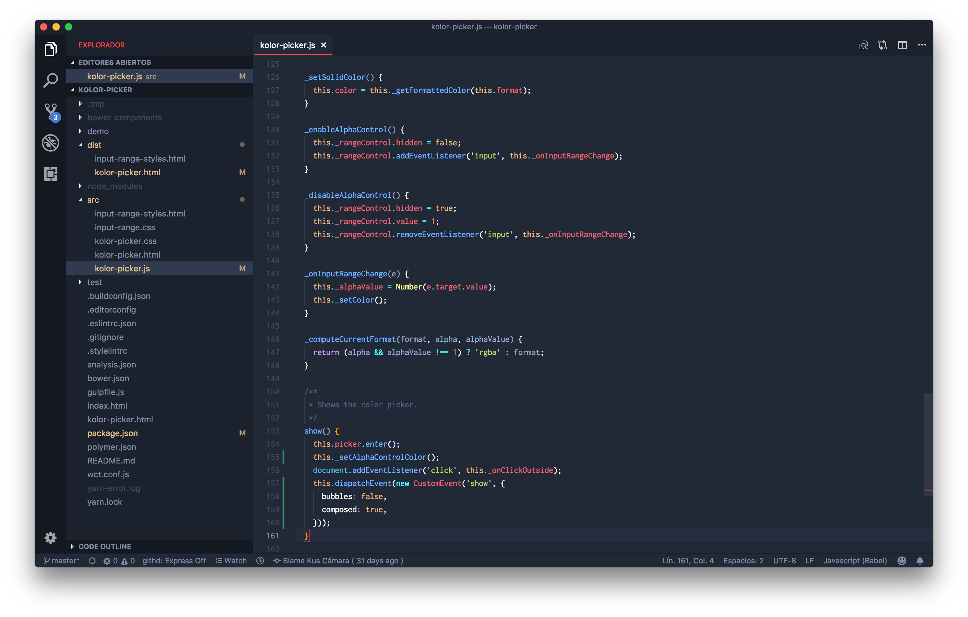 JavaScript syntax highlight
