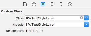 Adding KWTextStyleLabel